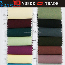 Factory supply polyester spandex plain dyed chiffon fabric for lady dress