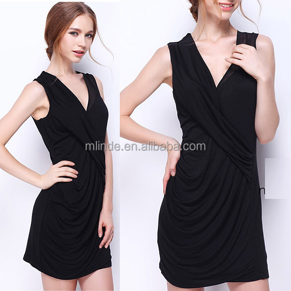 Sleeveless V Neck Designs Pictures For Girls Dresses