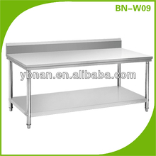 Commercial Stainless steel Hotel Ktichen Table for kitchen project