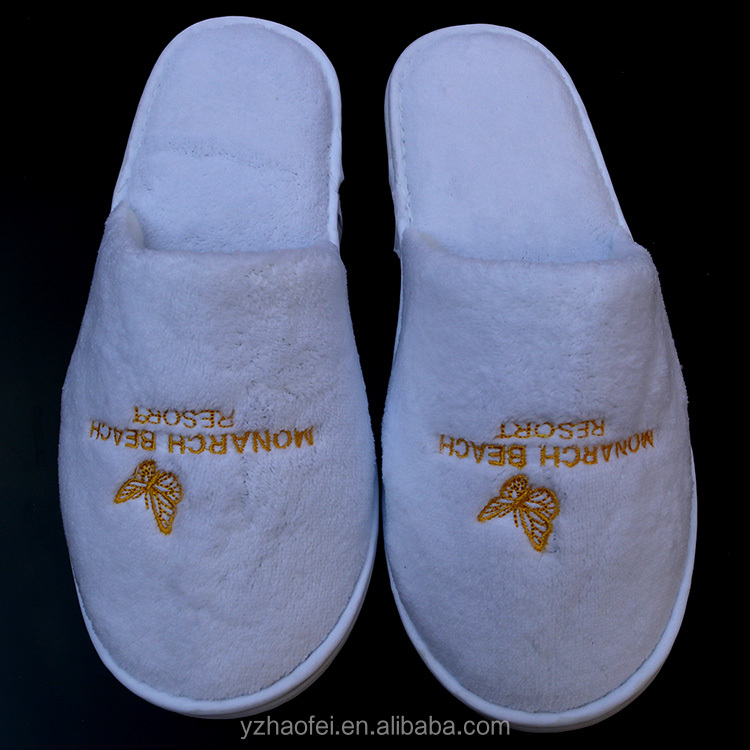 White Disposable Slippers SPA Slippers Hotel Bathroom Slippers