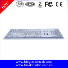 IP65 industrial rugged metal kiosk industrial keyboard with trackball ,Function keys and number keypad