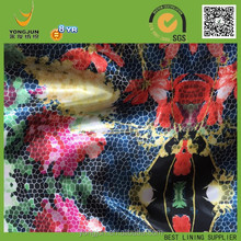 100% polyesterr crab print fabric print fabric for russian market made in china