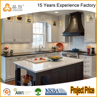 High End Kitchen Cabinet Modern Design Vinyl Wrapped Kitchen Cabinet Doors