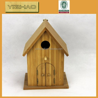 Made in China high quality antique wooden bird cage bamboo dog house,bamboo bird house with window