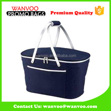 Washable Large Storage Light Weight Insulated Cooler Lunch Picnic Basket Bag