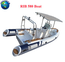 Length 580 cm rigid inflatable boat fiberglass hull and ce certification