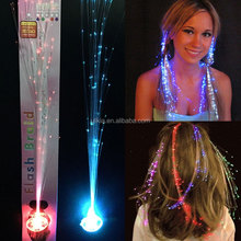 "14"" Light-up Fiber Optic Led Hair - Multicolor Flashing Rainbow Colors rave party hair accessories"