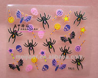 2013 New design nail stickers art halloween nail stickers