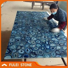 Wholesale Large Semiprecious Gemstone Stone Blue Agate Stone Slab