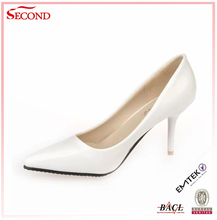 Latest Design Genuine Leather Lady Sexy Sharp Point Heels