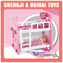 Niños pretend juguetes muebles playset doble cama <span class=keywords><strong>cunas</strong></span> renacer <span class=keywords><strong>muñeca</strong></span>