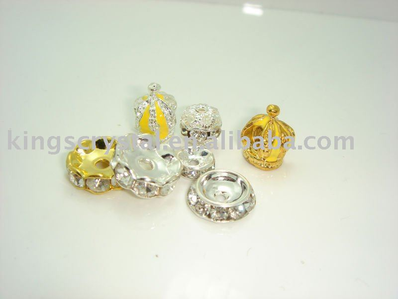 CRYSTAL STRASS BALL BEAD RONDELLES RHINESTONE BALLS SPACER BAR