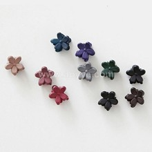 Frosted flowers plastic small clip Children's hair accessories baby grasp clip girls hair claw wholesale