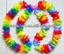 fabric hawaiian silk flower leis