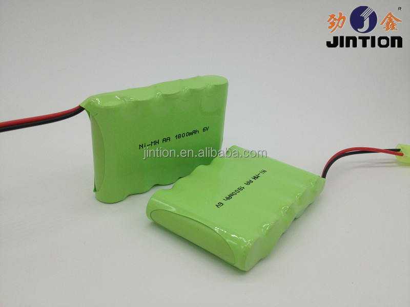 6V Ni-Mh AA 1800mAh Rechargeable battery pack
