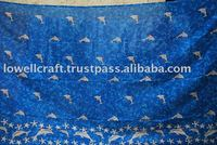 SEA PRINTED SARONG/BEACHWEAR/ SILK PAREOS