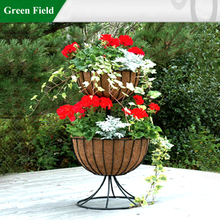 Green Field Metal Garden Planter Plant Stands with Coir Liner