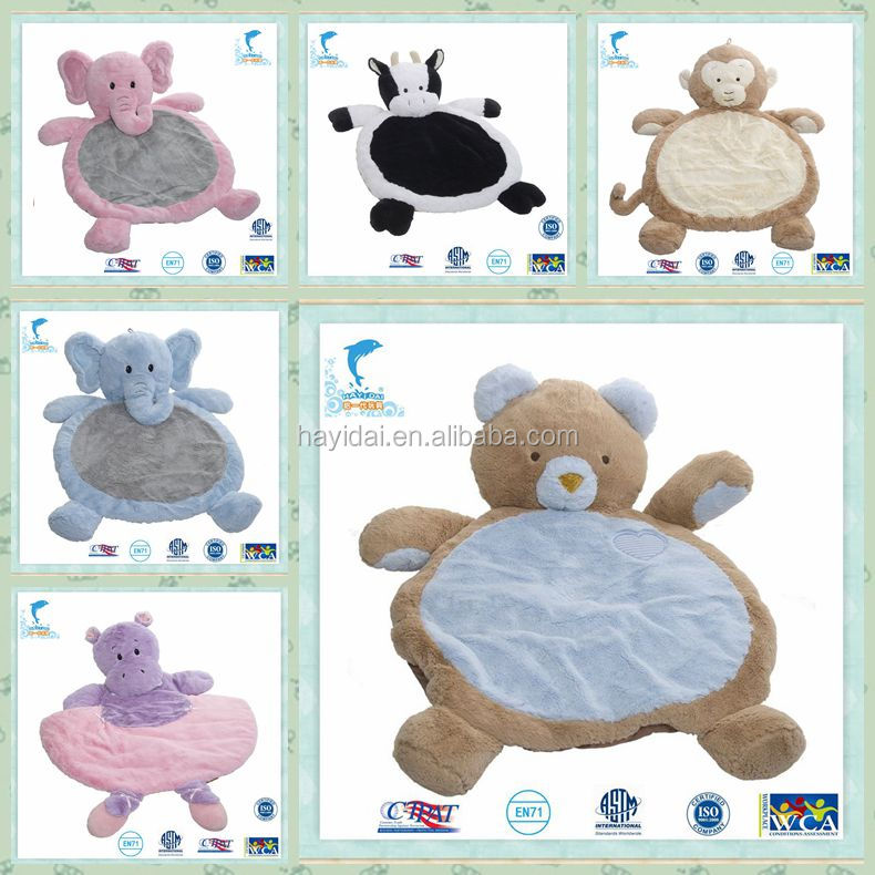 35 inch super warm Animal shape baby play Gym playmat Soft fabric mat