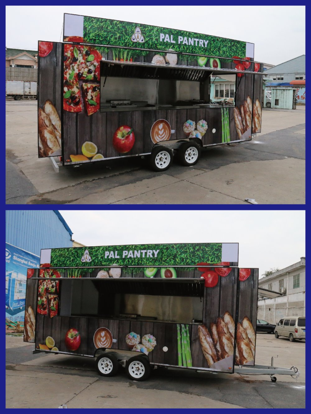 FV 55 Top Quality Customized On Demand Multi Color Mobile Food Truck