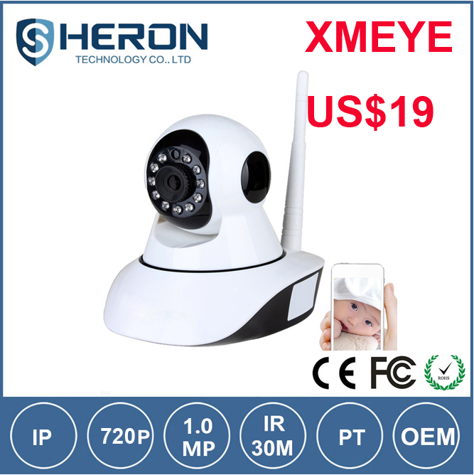 XMEYE promotion HD 720P night vision wifi IP wireless Camera rotate 360 degrees