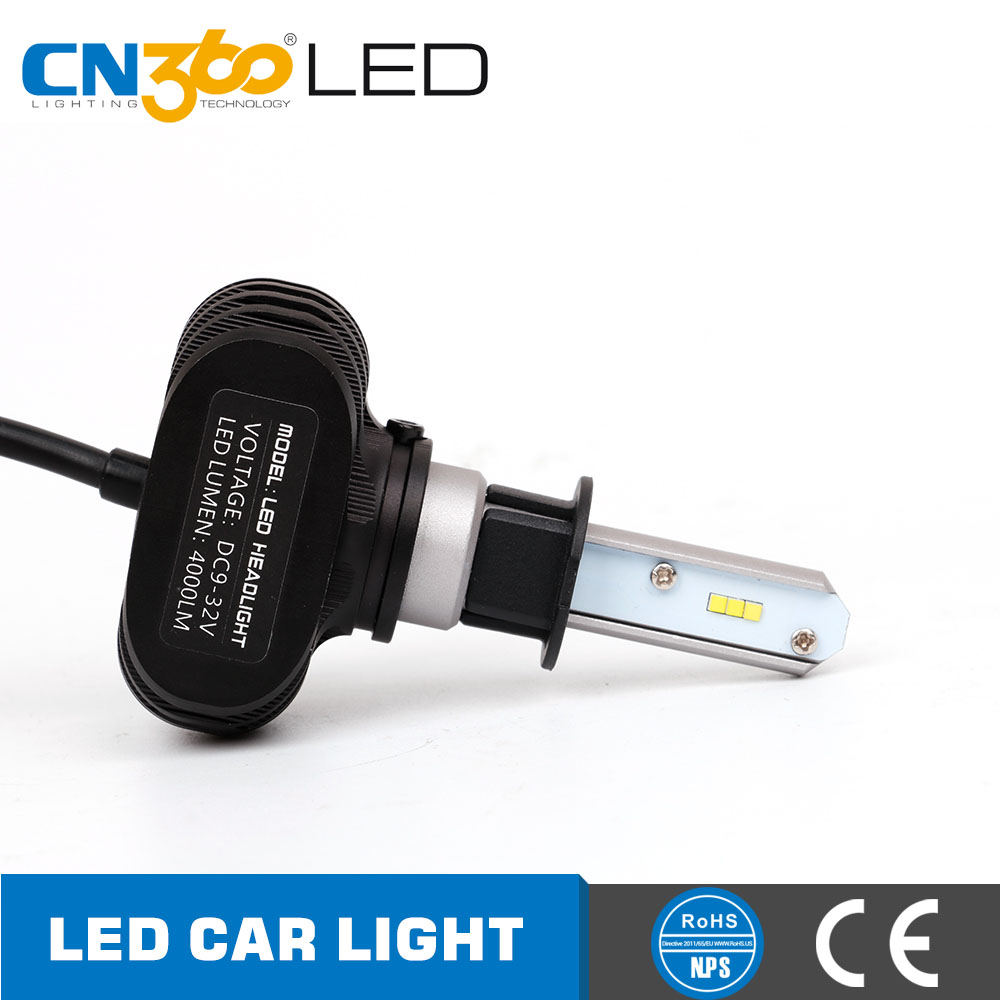 CN360 50W 8000LM fanless mini all in one design 6000k led h3 12v 50w, led car headlight