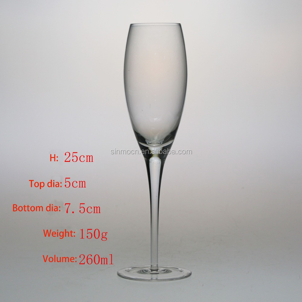 clear champagne wine glass