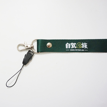 Custom Polyester Lanyard with Cell Phone Holders Neck Strap ID Key Chain