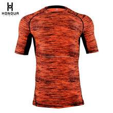 2017 New Arrival Sport Gym Fitness Custom Sublimation Half Sleeve Customized Compression Shirt