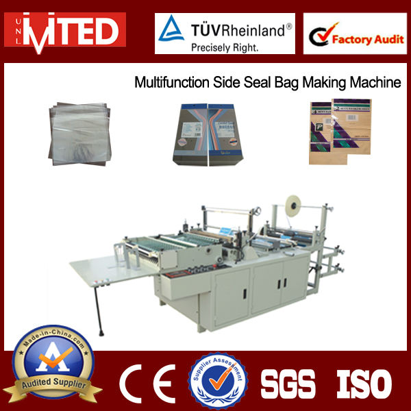 CNC Automatic OPP PE Bag Making Machine / Hot sealing and hot cutting Bag Machine / CNC Bag Making Machine and Prices
