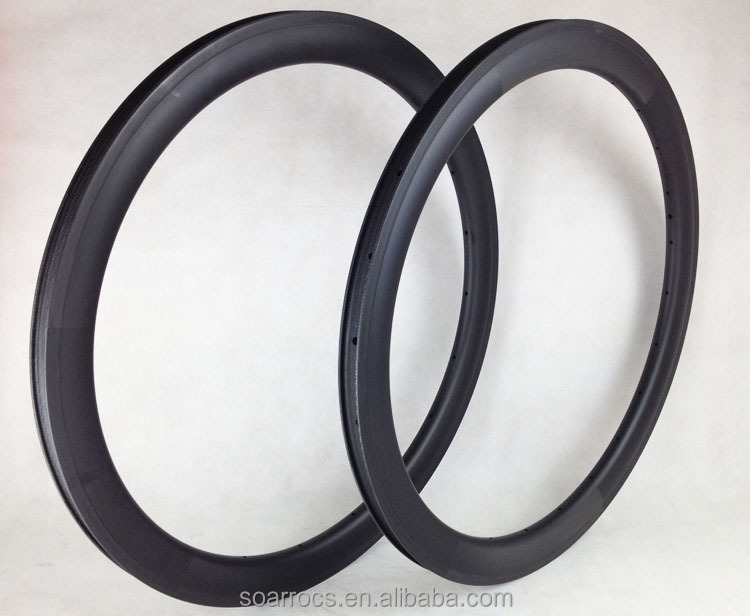 New Design! 700c 50mm carbon bicycle rims 27mm width tubeless-clincher rims