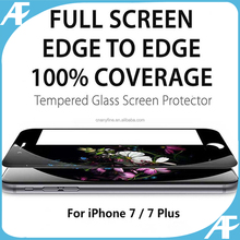Promotion ! Full Cover 0.33mm Thickness 3D Curved 9H Tempered glass screen protector for iPhone 7 / 7plus / 6s / 6s plus