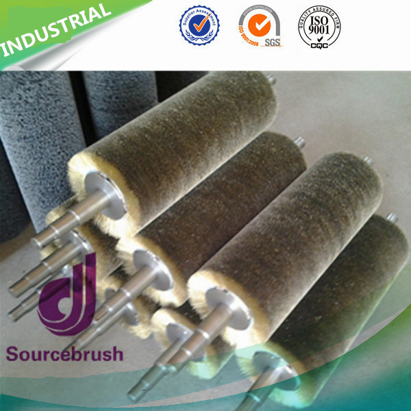 Industry Stainless Steel Open Dense Wound Wire Brush Roller for Polishing