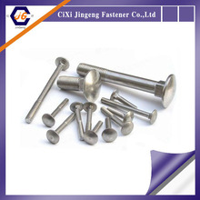 good quality m10 stainless steel round wide flat head with square neck carriage bolt