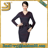 Hot selling latest hot sell dresses, high fashion womens v-neck bodycon clothing