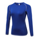 long sleeve sportswear compression women athletic yoga wear blank fitness sports running t shirts