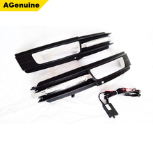 2009-2012 Long service car LED day running lights foglamp grills fog lights mask with DRL lamps for Audi A6 C6