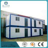 china modular side open container box type quick construction cost container house