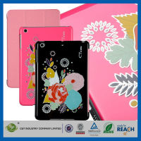 C&T Wallet smart stand folio flower pattern pu case for ipad mini so cool