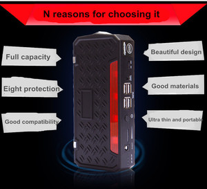 Mini 13500mAh car jump starter emergency battery booster pack with one year alliance warranty for wholesale