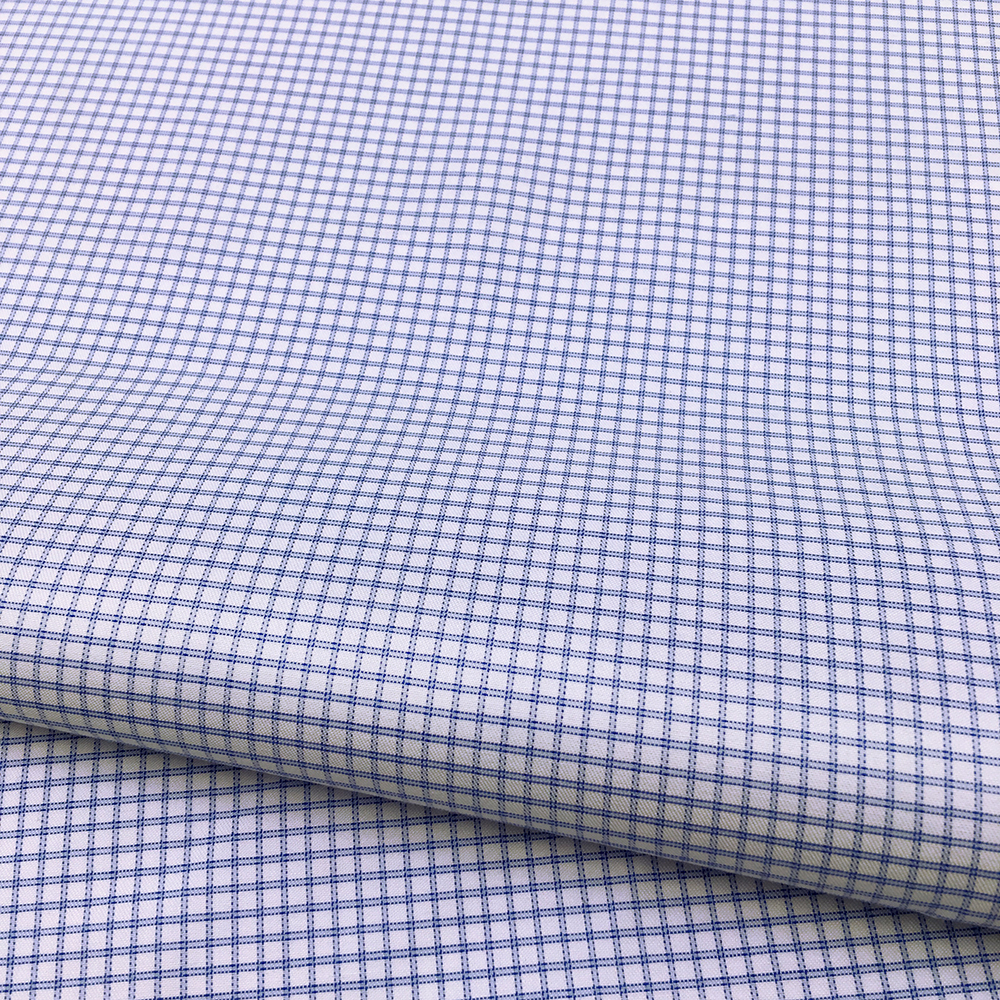 100 Cotton High Quality Yarn Dyed Check Woven Dress Shirt Fabric