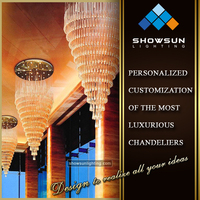 Superexcellent large commercial chandeliers lighting