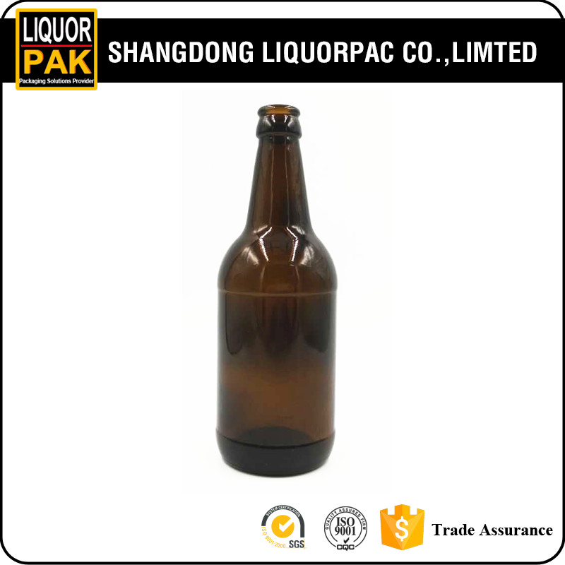 450ml factory price stocked products brown beer glass bottle