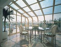 Aluminum and safety glass roof porch