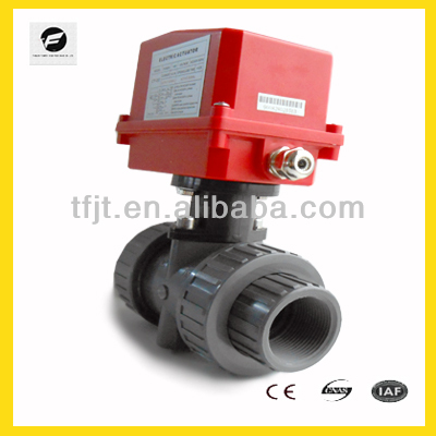 220VAC 2-way UPVC electric operated valve for Water,Irrigation system and water treatment system