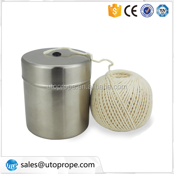 220' of food safe S/S Holder white cotton twine for cooking meat