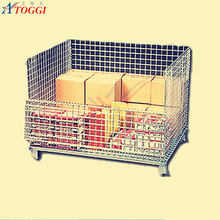 mesh box wire cage metal bin storage cage container