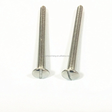 manufacturer china stainless steel slotted oval head slotted screw bolt making machine fastener price