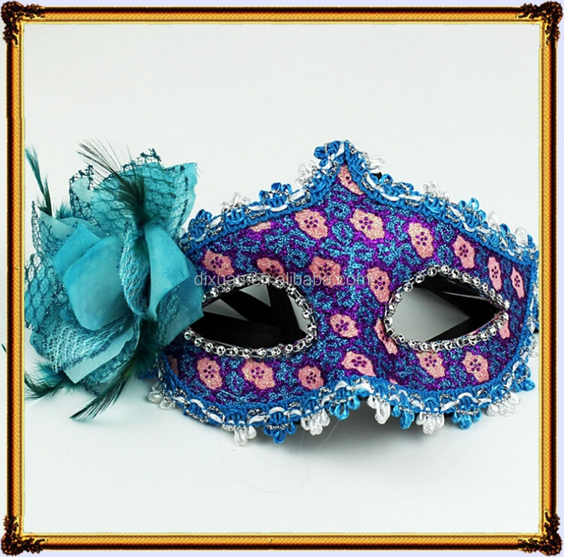The new 2015 fine lace diamond leather mask of Venice Lily masquerade mask