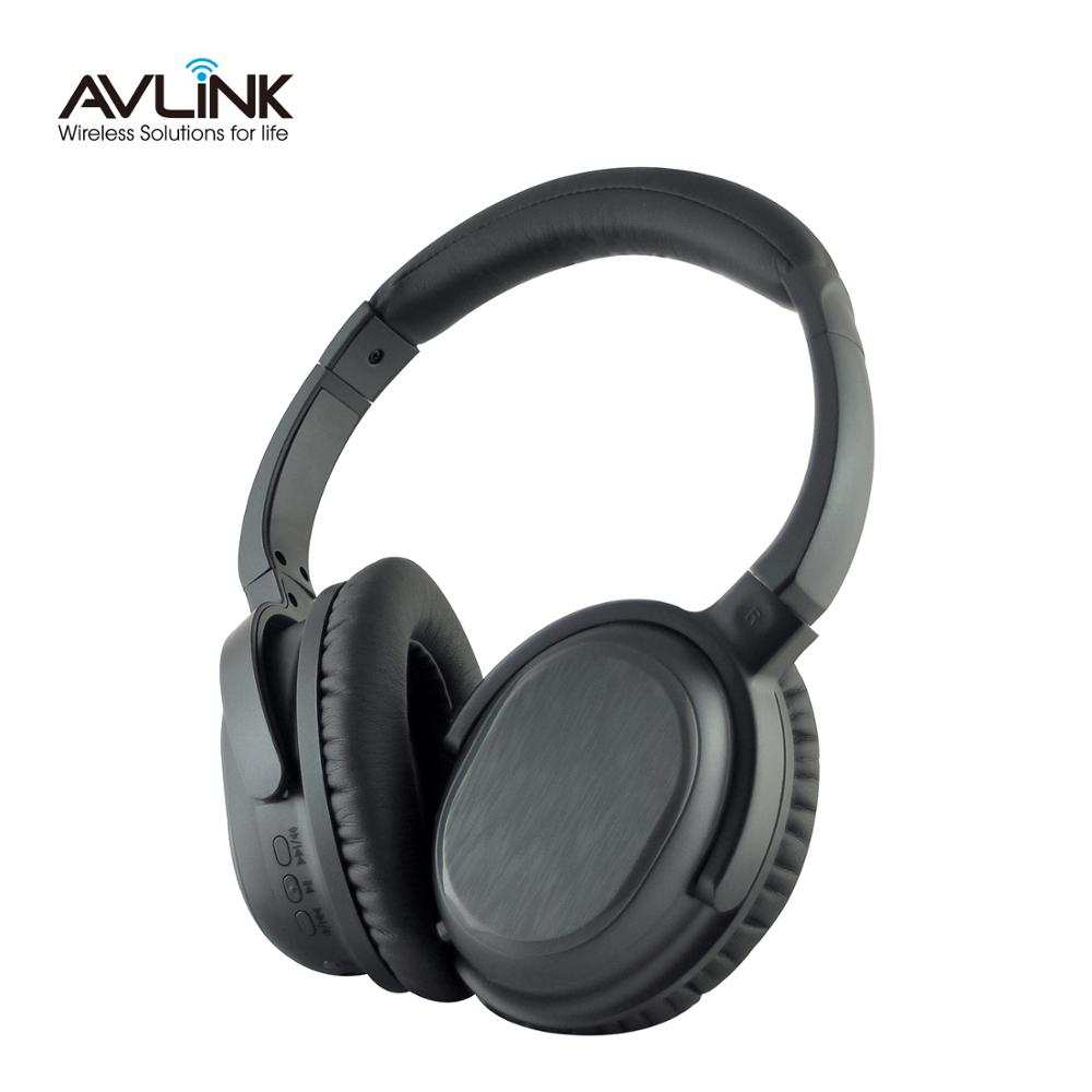 Extensible wireless Bluetooth v4.1 stereo aviation headsets with active noise cancelling full leather ear pads and headband