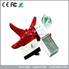 Factory outlet Crystal metal usb memory sticks 128mb